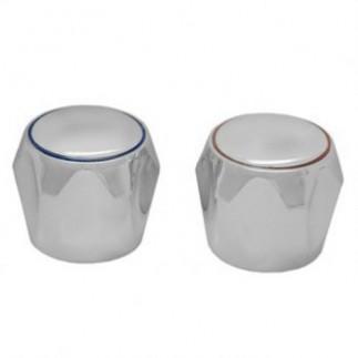 Маховик (пара) ГЛОБО пластик хром (квадрат)
