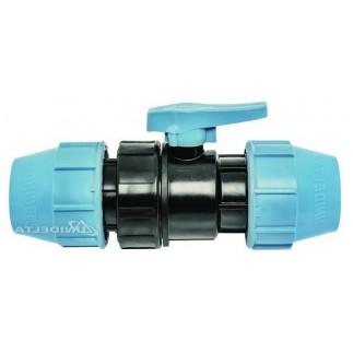 Кран Unidelta для ПНД труб шаровый 25 мм
