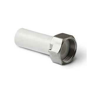 """Штуцер пластиковый с накидной гайкой с отверстием под пломбу Pro Aqua 32х1.1/4"""" вн.р."""