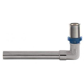 Угольник GF пресс с хромированной трубкой для радиатора 16 мм L=150 мм